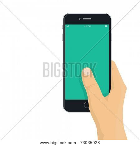 Hand Holding Phone Vector images