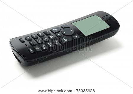 Cordless Phone Handset On White Background