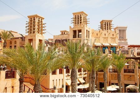 Old Dubai with classical wind tower