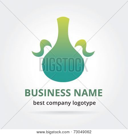 Pitcher logotype isolated on white background. Pitcher logotype isolated on white. Key ideas is fresh water, museum, drink
