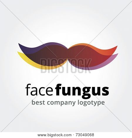 Abstract vector whiskers logotype concept isolated on white background