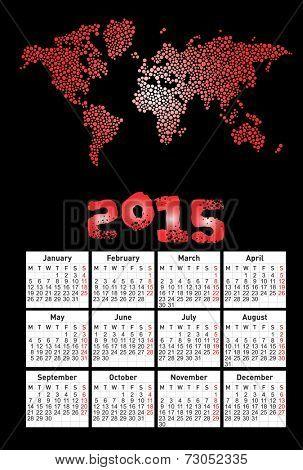 2015 new calendar vector illustration