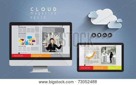 Layout e-magazine, vector