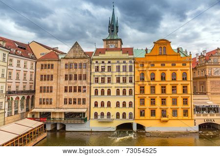PRAGUE, CZECH REPUBLIC - 21 JUNE 2014: Historic architecture of Prague in Czech Republic. Prague is one of the most visited city in Europe with over 5 million visitors every year.