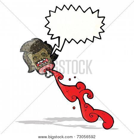 gross cartoon severed head