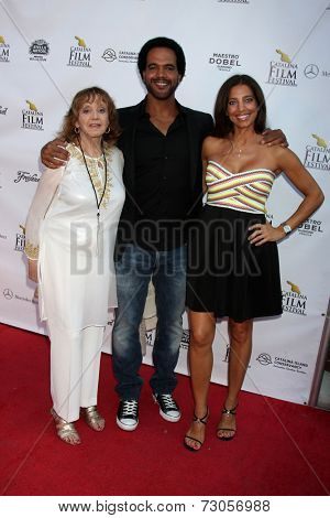 AVALON - SEP 26:  Maria St. John, Kristoff St. John, Dana Derrick at the