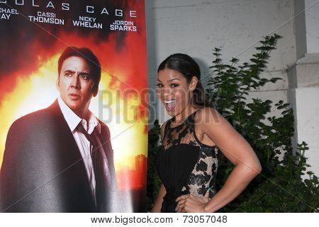 AVALON - SEP 26:  Nicolas Cage Poster, Jordin Sparks at the