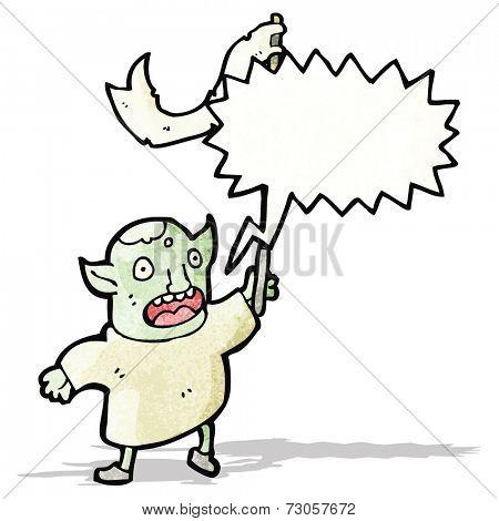 cartoon goblin shouting