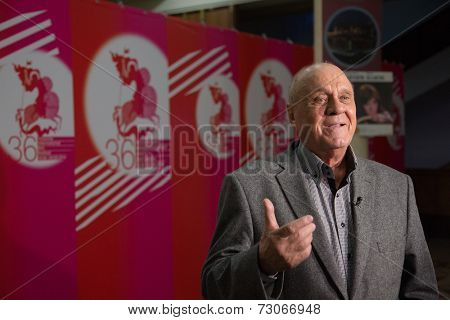MOSCOW - JUNE, 25: Actor V.Menshov. Press-conference White Yagel Movie at 36st MIFF, Actor Theatre. June 25, 2014 in Moscow, Russia