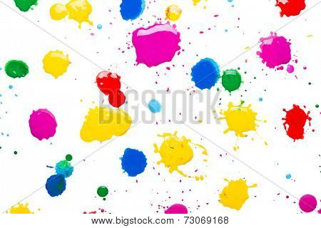 cmyk color background on white
