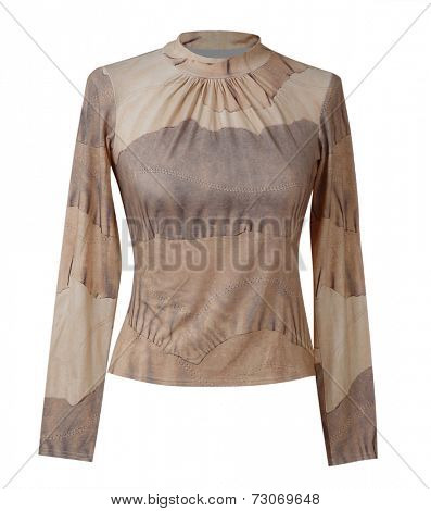 brown blouse isolated on white