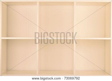 Empty Bookcase library