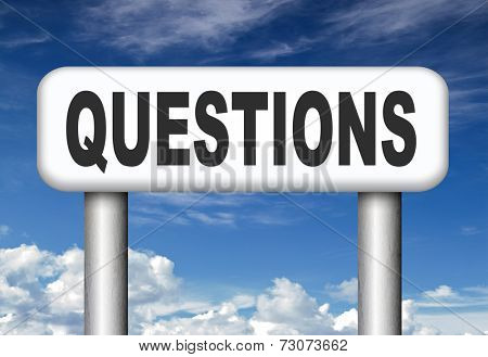 questions and solutions ask our support desk team information answer question with text and word concept