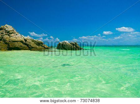 On a Sunny Beach Oblivion Waters