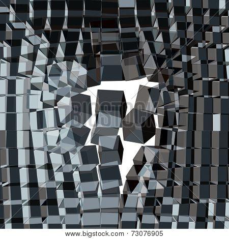Vector cracked background. 3d vector illustration.