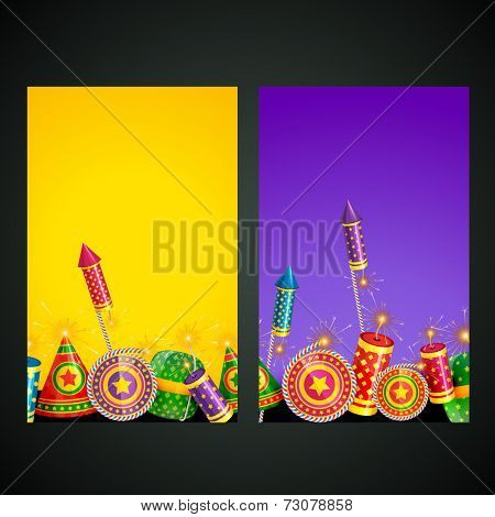 Vector illustration of diwali card