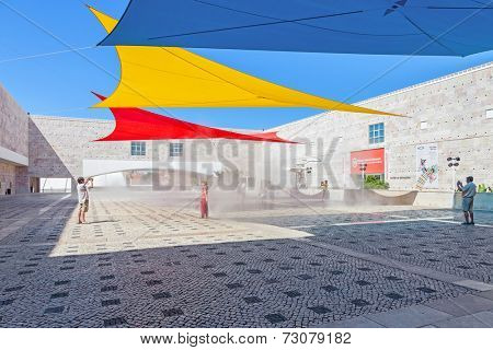 Lisbon, Portugal. August 24, 2014: Centro Cultural de Belem (belem cultural center). Major museum and cultural center showing exhibitions a art collections like the Berardo Museum and music concerts.