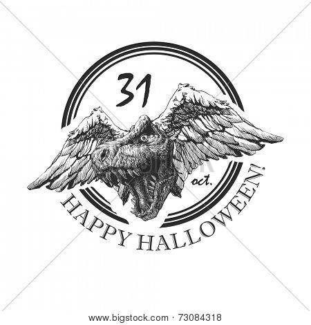 design element for halloween. hand drawn. vector eps8