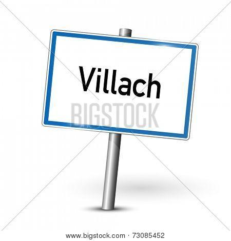 City sign - Villach - Austria