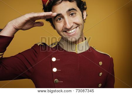 Bellboy saluting