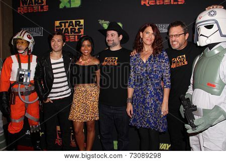 LOS ANGELES - SEP 27:  Star Wars Rebels Cast at the
