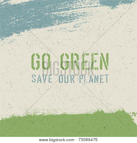 Go green concept. Vector