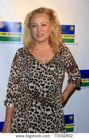 LOS ANGELES - SEP 23:  Virginia Madsen at the We Are Limitless' 2nd Annual Celebrity Poker Tournament at Hyperion Public on September 23, 2014 in Los Angeles, CA