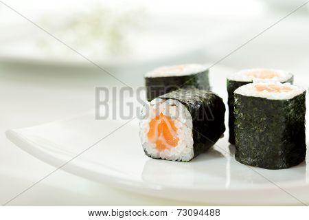 Sake Maki Sushi - Roll with Fresh Salmon