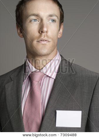 Portrait of young elegant man