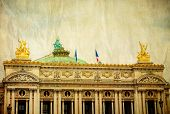 stock photo of masterpiece  - Vintage Opera Garnier in paris France - JPG