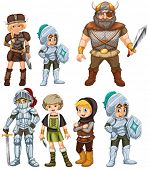 picture of knights  - Illustration of knights and warriors - JPG