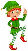 pic of elf  - Illustration of an elf standing alone - JPG