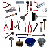 Large Page Of Tools On White Background