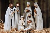 stock photo of mary  - A nativity scene composed of Mary - JPG