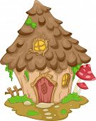 picture of gnome  - Illustration Featuring a Cute Gnome House - JPG