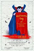 stock photo of dracula  - illustration of scary Dracula in Halloween night - JPG