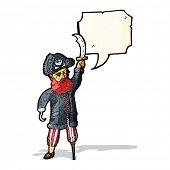 picture of peg-leg  - pirate captain cartoon - JPG