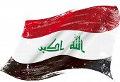 image of iraq  - Iraqi grunge flag - JPG