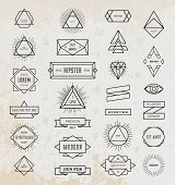 picture of arrow  - Set of Vintage Hipster Labels - JPG