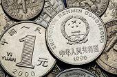 stock photo of yuan  - Coins of China - JPG