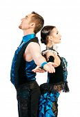pic of tango  - Beautiful professional dancers perform tango dance with passion and expression - JPG