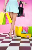 stock photo of up-skirt  - Fashion shopping concept - JPG