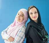 pic of hijabs  - Beautiful girls with a hijab together - JPG