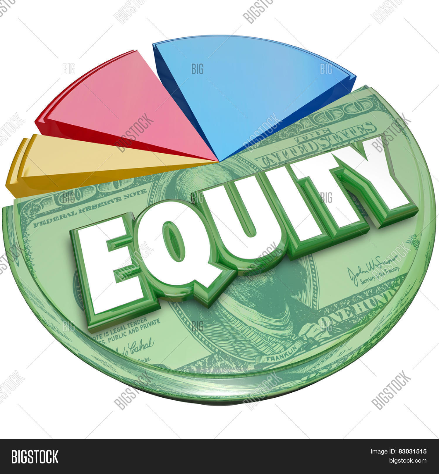 Equity word on pie chart illustrate image photo bigstock equity word on a pie chart to illustrate stock balance investment account for amount owed or nvjuhfo Image collections
