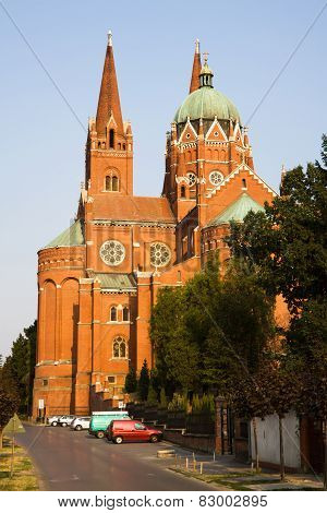 The Cathedral Of St. Peter And St. Paul In Dakovo City. Slavonia Region In Croatia.