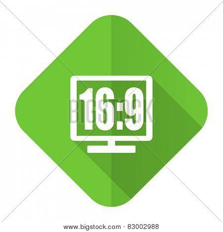 16 9 display flat icon