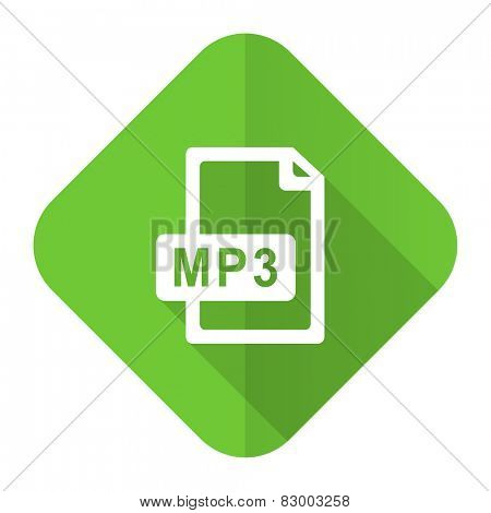 mp3 file flat icon