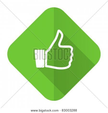 like flat icon thumb up sign