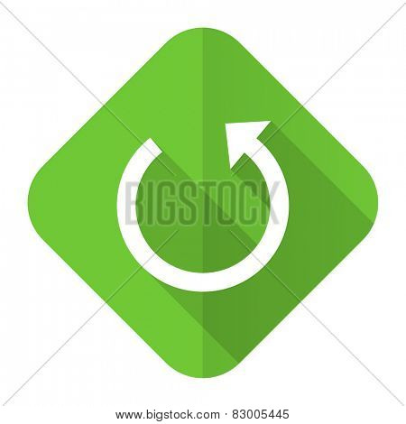 rotate flat icon reload sign