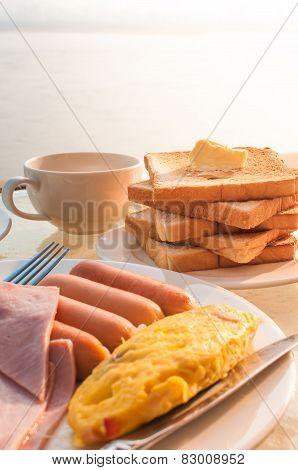 Breakfast On Vacation Riverside Resort.